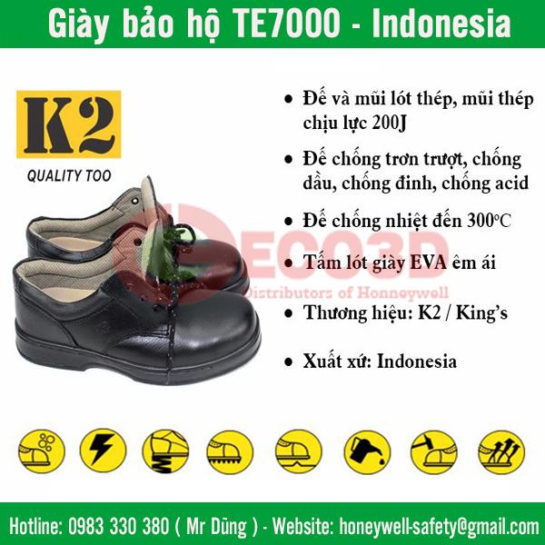 Giày bảo hộ TE7000 của Honeywell