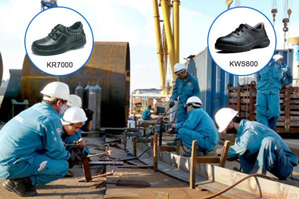 Sử dụng giày bảo hộ trong công trường